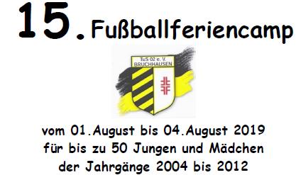 Anmeldung TuS-Fußballferiencamp am 19.05 und 02.06