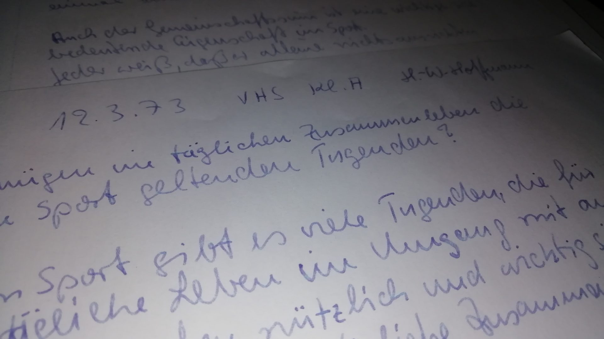 Klassenarbeit von 1973 so aktuell wie nie